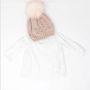 Carter's | Baby Girl LS Shirt w/ Beanie 2️⃣ Piece